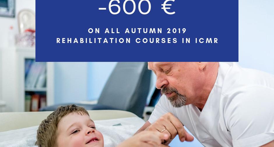 -€600 on ALL autumn 2019 rehabilitation courses