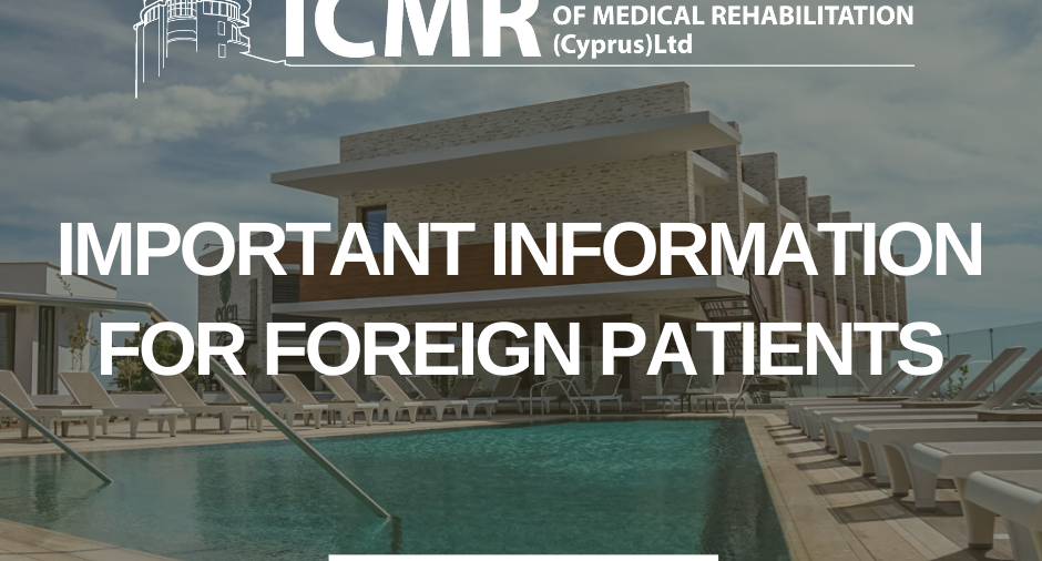 Important information for international patients